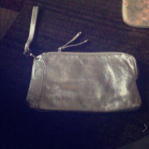 Silver wristlet / wallet